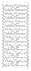 Find It stickervel glazend goud prettige kerstdagen CD3016 (Locatie: e003)