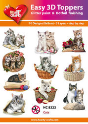Hearty Crafts Easy 3D Toppers - Katten HC8323 (Locatie: K2)