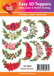 Hearty Crafts Easy 3D Toppers Winter Flowers HC9424 (Locatie: K2)