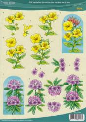 Hobby design knipvel bloemen 73108 (Locatie: 1453)