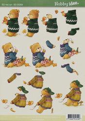 Hobby Idee knipvel beren HI-0069 (Locatie: 5823)