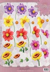 Hobby Idee knipvel Zomerbloemen HI-0122 (Locatie: 2764)
