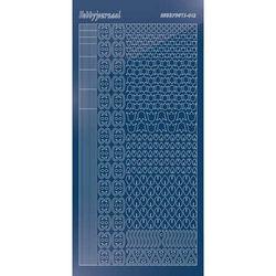 Hobbydots stickervel glanzend blauw STDM124 (Locatie: N257 )