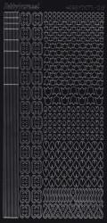 Hobbydots stickervel glanzend zwart 012 (Locatie: BB190)