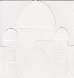 Ilses tempel, 3x kaart, 3x envelop, wit nr. 21024/1 (Locatie: OO036 )