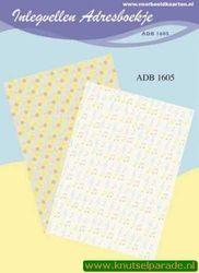 Inlegvellen adresboekje ADB 1605 (Locatie: D37 )