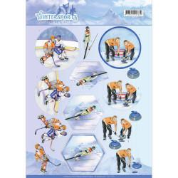 Jeanine's Art knipvel ijshockey CD11029 (Locatie: 4541)