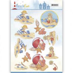 Jeanine's Art knipvel strand kinderen CD11067 (Locatie: 5543)