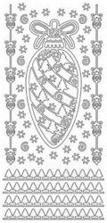 JeJe Stickervel kerst zilver 1032 (Locatie: PP134 )