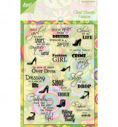 Joy! Crafts Clear stamps Fashion Girls 6410/0065 (Locatie: nn040)