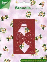 Joy! Crafts snij- embos- en borduurstencil kerstbal 6001/0078 (Locatie: S020 )
