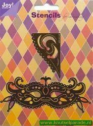 Joy! Crafts snij- embos en borduurstencil Venetiaans masker 6001/0114 (Locatie: J132 )