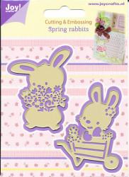 Joy! Crafts snij- embosmal Spring rabbits 6002/0436 (Locatie: M004)