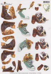 Knipvel Studio Martare Hond/poes met schoenen CD10398 (Locatie: 1108)