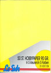 Le Suh A4 hobbypapier 90 gr. 50 vel 5 kleuren 415298 (Locatie: 6754)