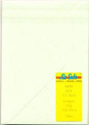 Le Suh A6 kaarten met enveloppen hamerslagpapier lichtgroen 5 stuks (Locatie: K3)
