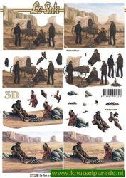 Le Suh knipvel indianen / cowboy 777 189 (Locatie: 822)