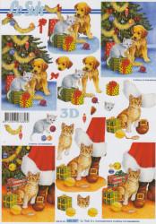 Le Suh knipvel kerstboom met hond 650007 (Locatie: 1416)
