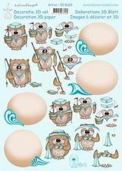 LeCreaDesign knipvel Owlie zomer 508169 (Locatie: 2846)