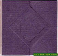 Lomiac kaart d.blauw zigzag met ruit 3 stuks nr. LC3142 (Locatie: Y041 )