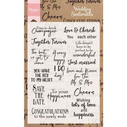 Marianne design Clear stamp Wedding Sentiments CS0999 (Locatie: k1110)