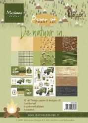 Marianne Design paperset De natuur in A5 PK9176