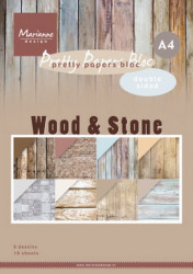 Marianne Design Pretty papers bloc Wood & Stone PK9170