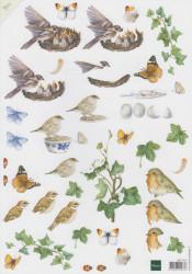 Mattie knipvel bloemen en vogels MB0101 (Locatie: 0506)