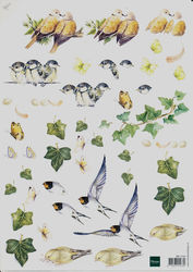 Mattie knipvel bloemen vogels MB0100 (Locatie: 0505)