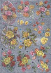 Metallic knipvel bloemen nr. 11174 8541 (Locatie: 1241)