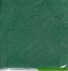 Mireille kaart donkergroen kaarsen 3 stuks met envelop (Locatie: L70 )