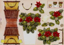 Mireille knipvel bloemenmandje X18 (Locatie: 5020)