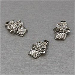 My Treasure bedel nikkelkleur Slagroomcoupe 2 stuks 04108 (Locatie: K3)