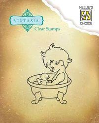 Nellie Snellen clear stamp Vintasia sweet home VINS001 (Locatie: NN283 )