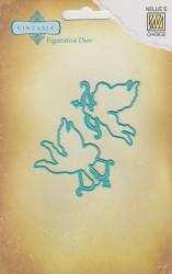 """Nellie Snellen snij- en embosmal """"cupid"""" (Locatie: nn293)"""