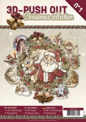 Stansboek Christmas Collection , 24 afbeeldingen en 8 designpapier, 3DPO10001 (Locatie: 1527)