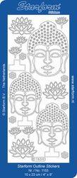 Starform sticker zilver Buhda 1153 (Locatie: G393)