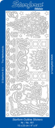 Starform sticker zilver kerst 951 (Locatie: ZZ160)