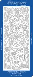 Starform sticker zilver nieuwjaar 1238 (Locatie: S129)