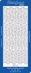 Starform sticker zilver randje 1272 (Locatie: L209)