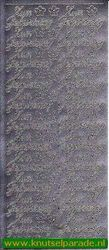 Starform sticker zilver Zum Geburtstag 401 (Locatie: F146)