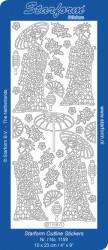 Starform stickervel Japan zilver 1158 (Locatie: g163)
