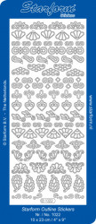 Starform stickervel ornamenten zilver 1022 (Locatie: u195)