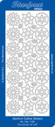 Starform stickervel zilver bloemen nr. 1126 (Locatie: U013 )