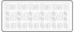 Sticker 65 goud 20380/3654g (Locatie: H457 )