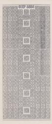 Sticker zilver transparant rand XP 6554 (Locatie: A235)