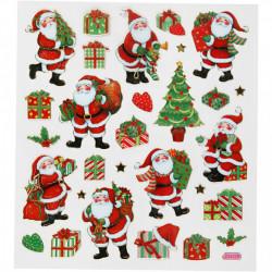 Stickers, vel 15x16,5 cm, kerstmis, 291851 (Locatie: 4301)