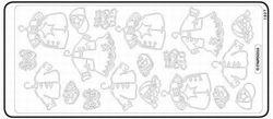 Stickervel babykleertjes/kinderkleertjes zilver 1927 (Locatie: H391)