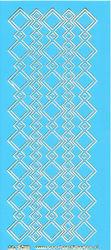 Stickervel blauw/goud nr. 3022 (Locatie: K128 )