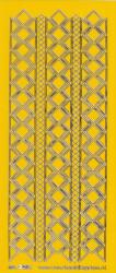 Stickervel donkergeel/zilver nr. 3019 (Locatie: K139 )